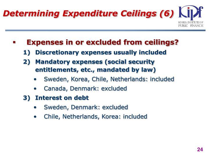 Determining Expenditure Ceilings (6)