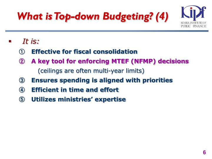 What is Top-down Budgeting? (4)