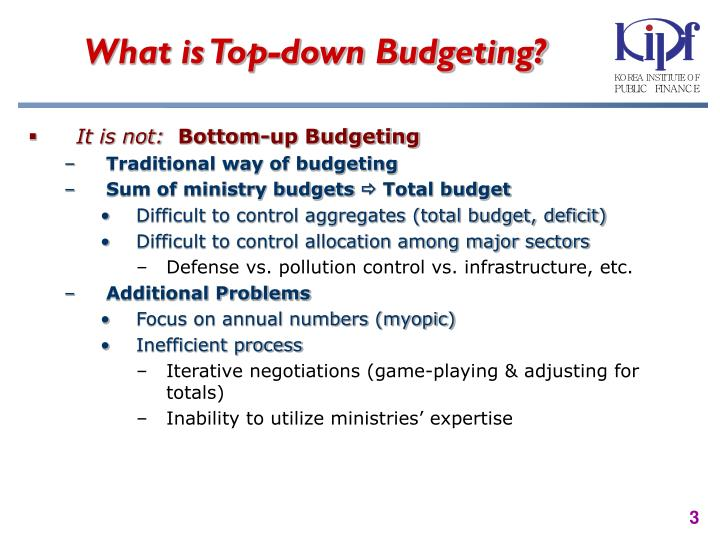 What is top down budgeting