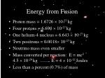 energy from fusion