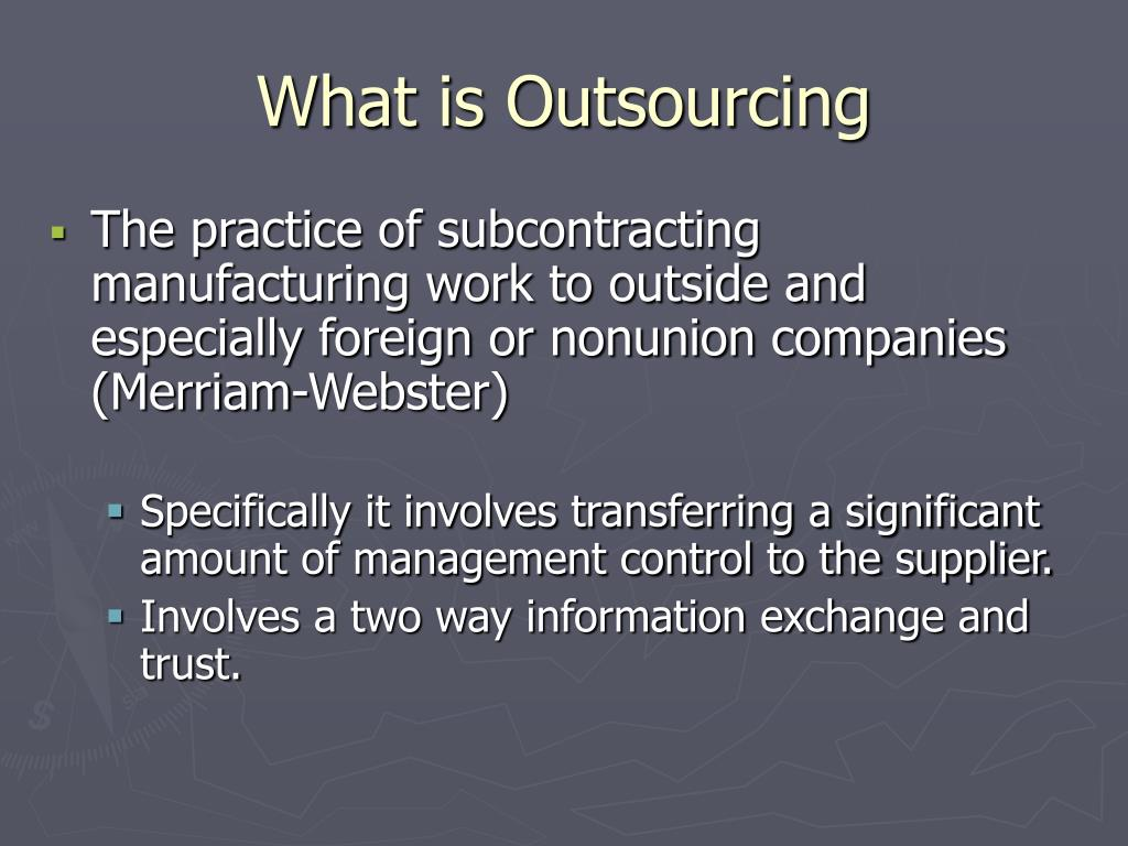 PPT - IT Outsourcing PowerPoint Presentation - ID:988400