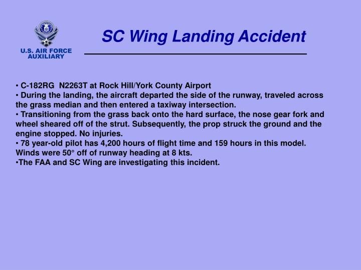 SC Wing Landing Accident