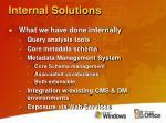 internal solutions