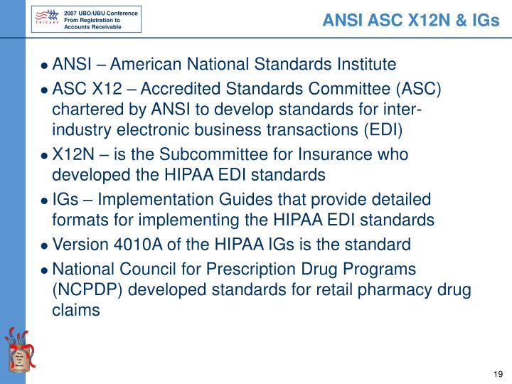 ANSI ASC X12N & IGs