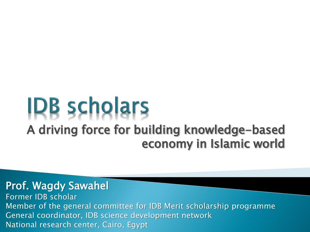 IDB scholars