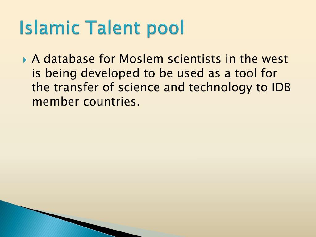 Islamic Talent pool