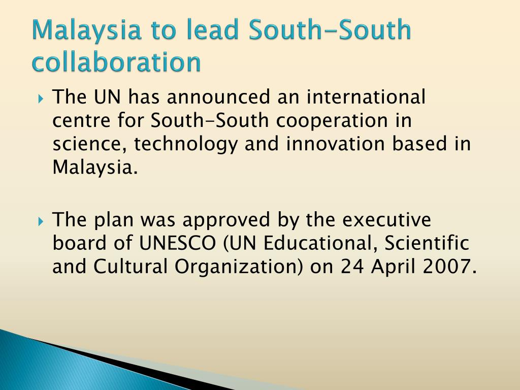 Malaysia to lead South-South collaboration