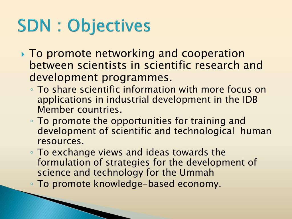 SDN : Objectives