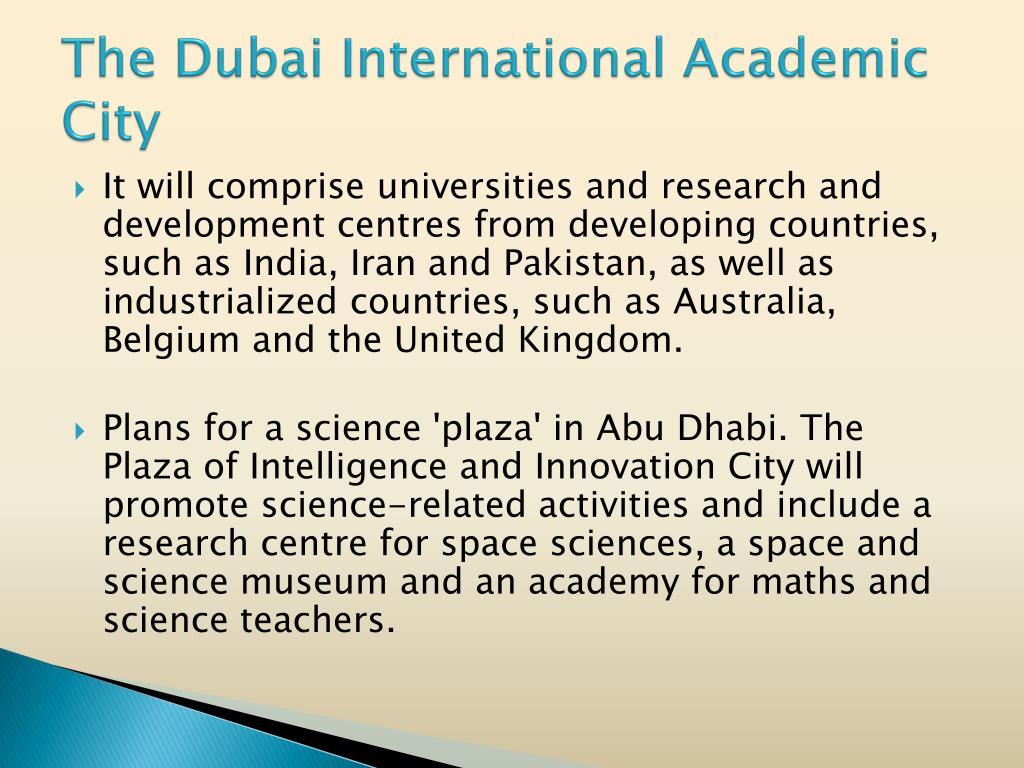 The Dubai International Academic City