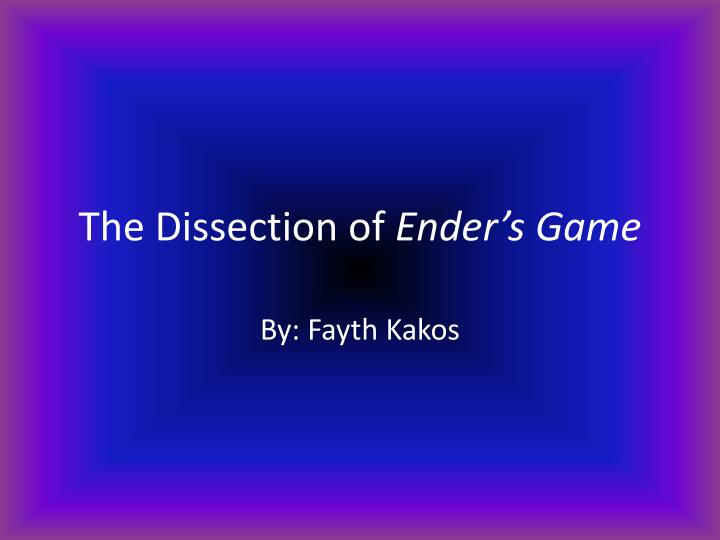 the dissection of ender s game n.
