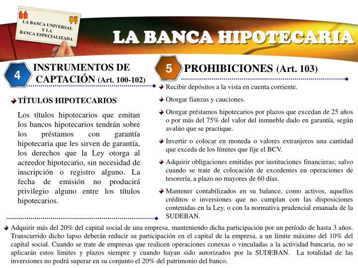LA BANCA HIPOTECARIA
