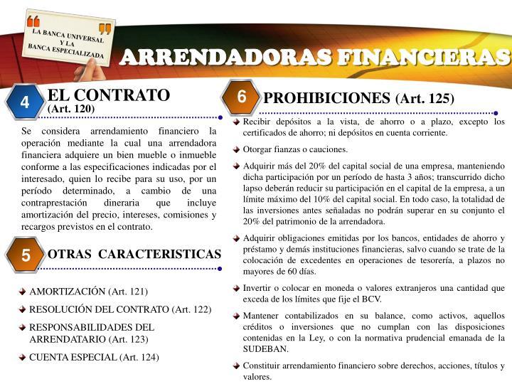 ARRENDADORAS FINANCIERAS