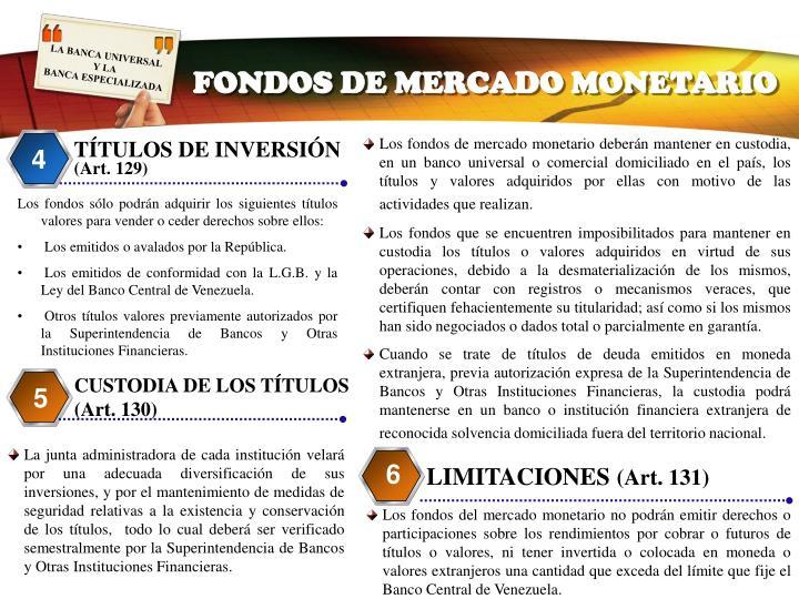 FONDOS DE MERCADO MONETARIO