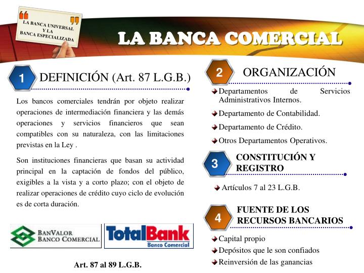 LA BANCA COMERCIAL