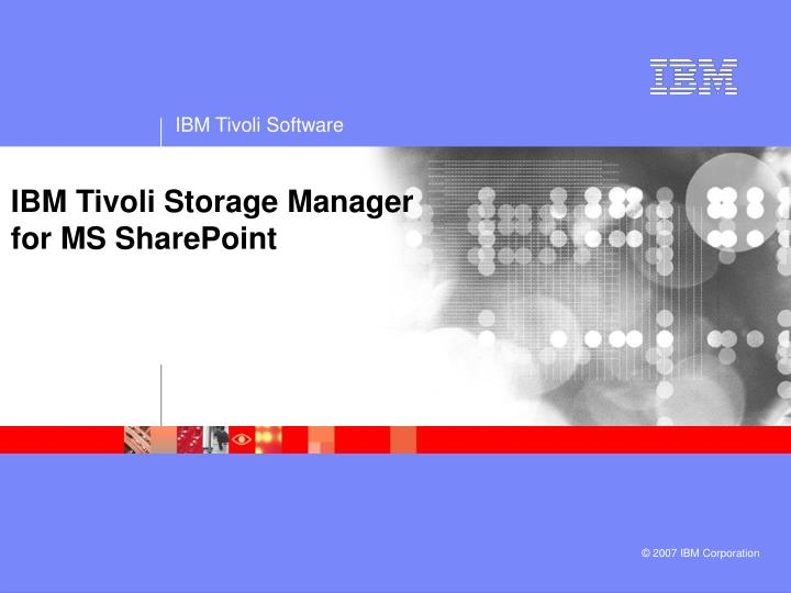 ibm tivoli storage manager for ms sharepoint n.