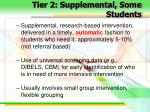 tier 2 supplemental some students