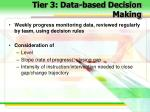 tier 3 data based decision making
