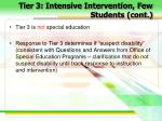tier 3 intensive intervention few students cont