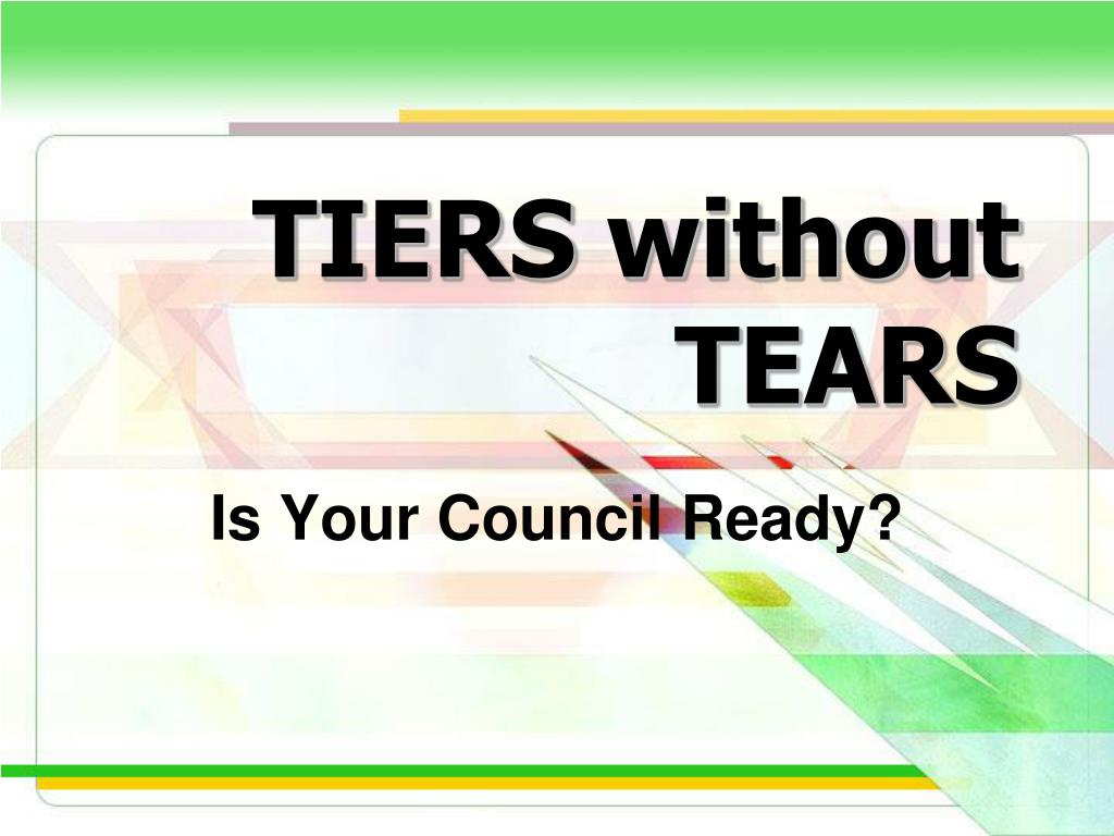 tiers without tears l.