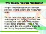 why weekly progress monitoring