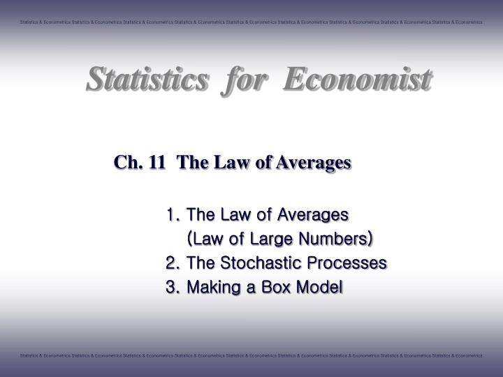 ch 11 the law of averages n.