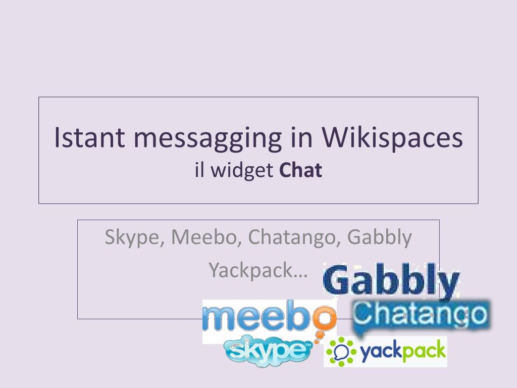 istant messagging in wikispaces il widget chat l.