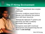 the it hiring environment