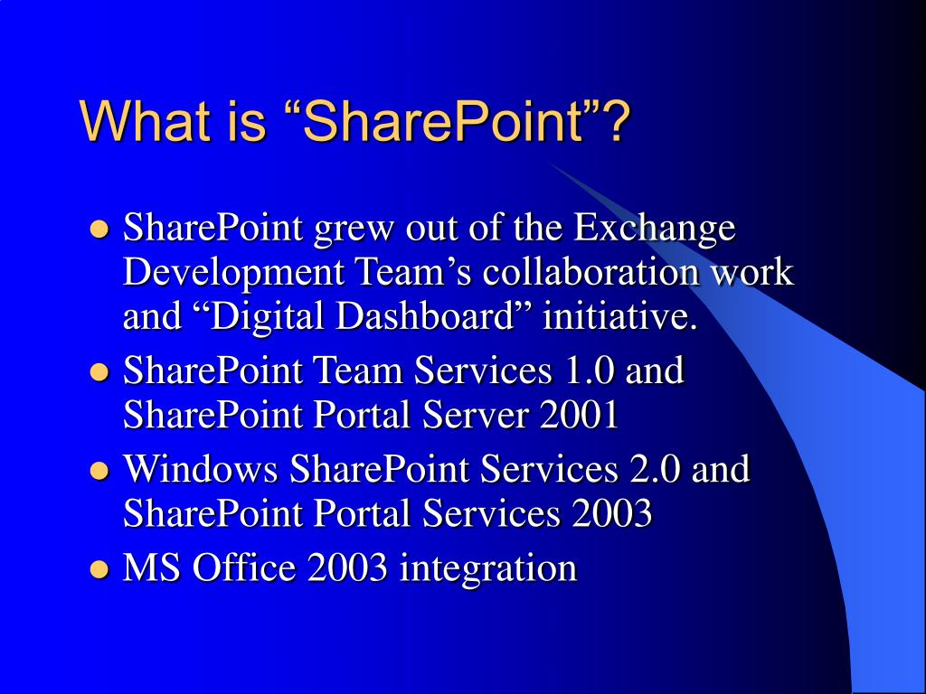 "What is ""SharePoint""?"