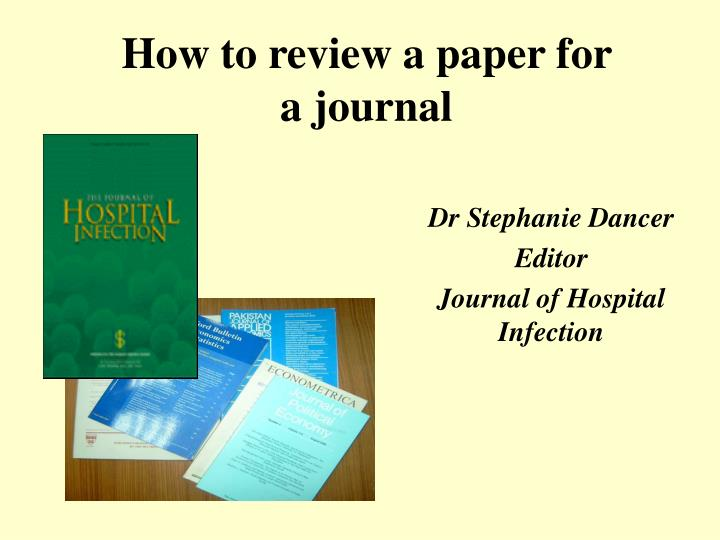 how to review a paper for a journal n.