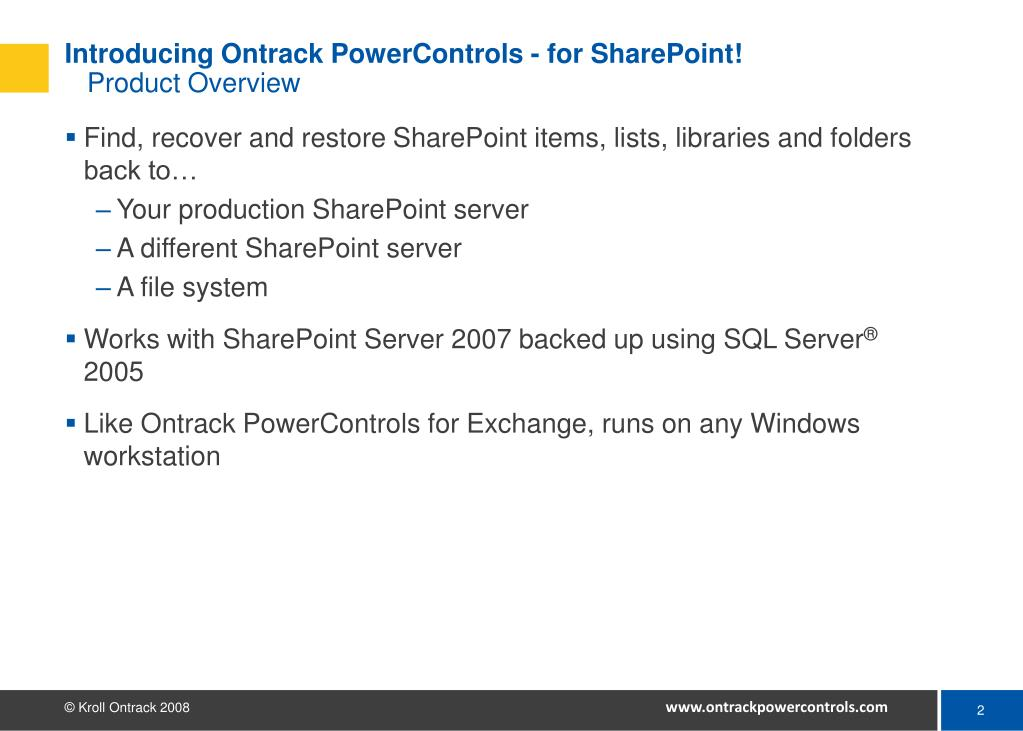 Introducing Ontrack PowerControls - for SharePoint!