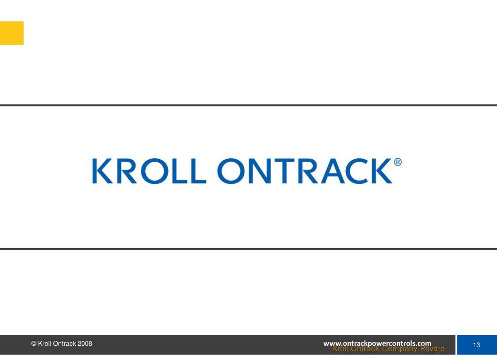 Kroll Ontrack Company Private