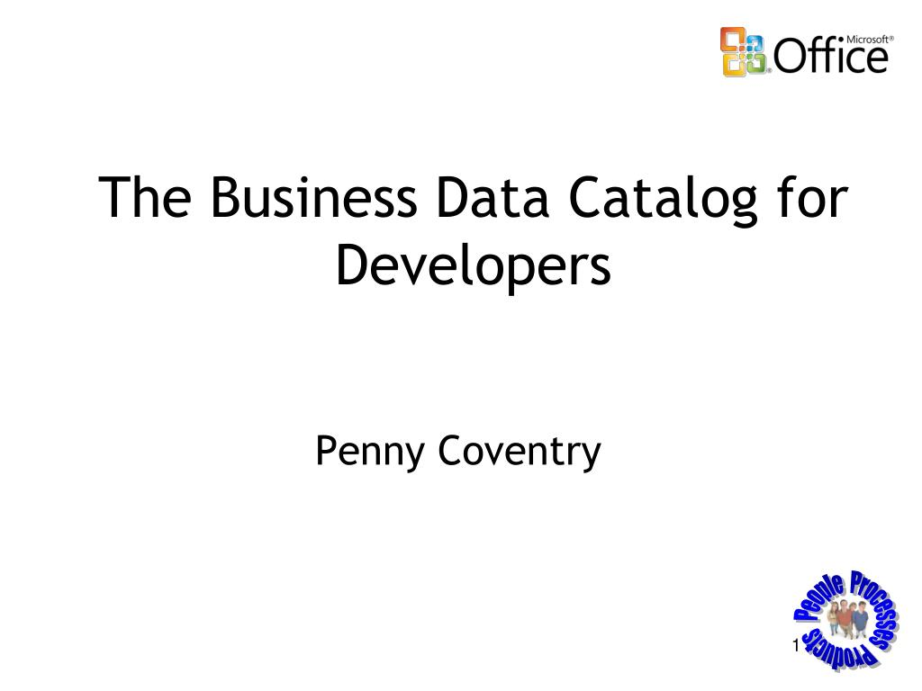 the business data catalog for developers l.