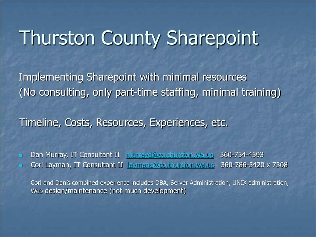 thurston county sharepoint l.