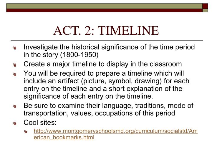 ACT. 2: TIMELINE