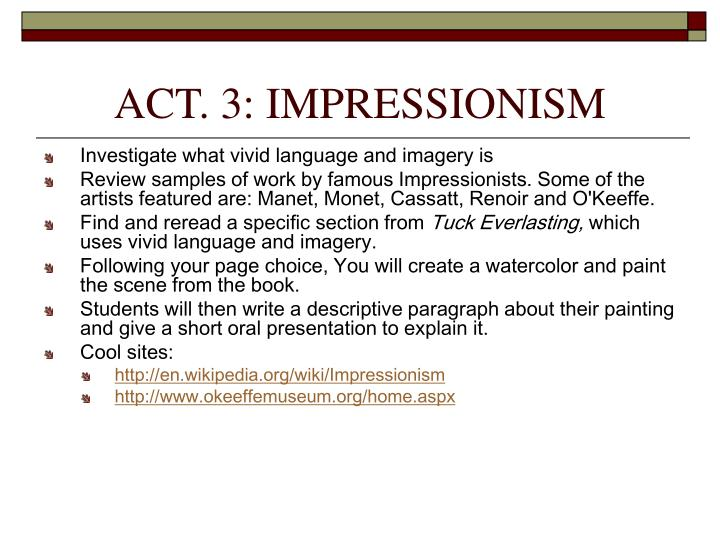 ACT. 3: IMPRESSIONISM