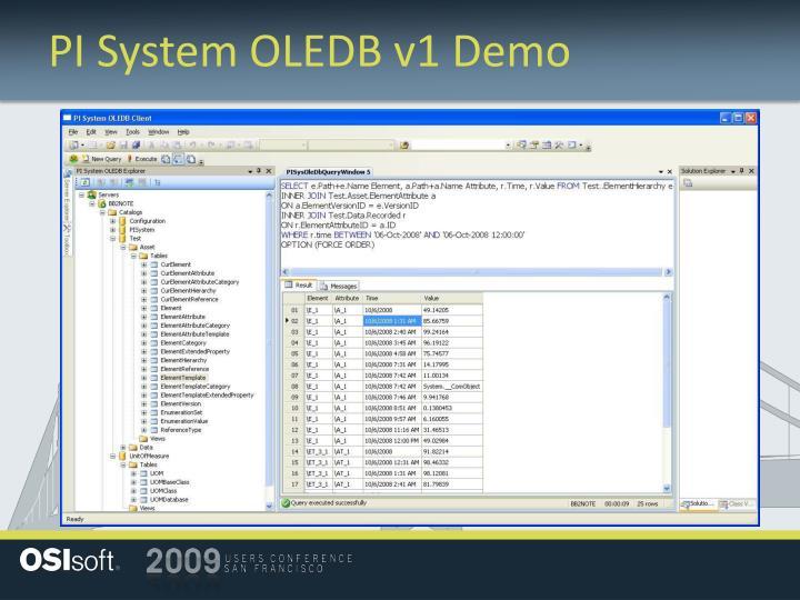 PI System OLEDB v1