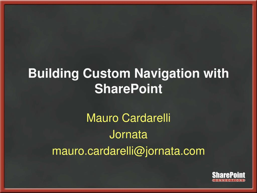building custom navigation with sharepoint l.