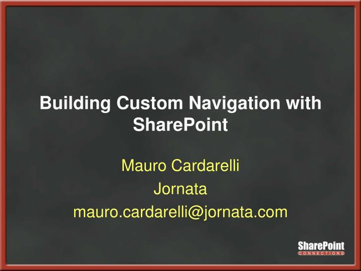 building custom navigation with sharepoint n.