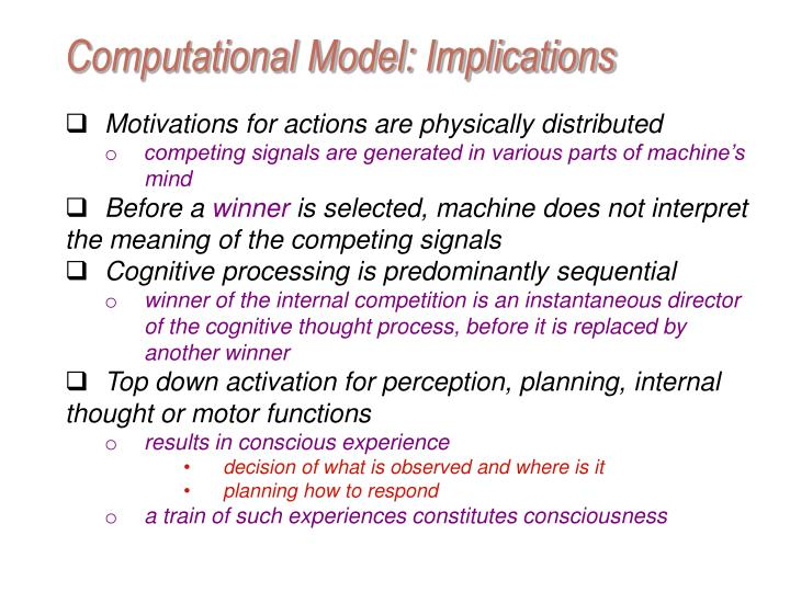 Computational Model: Implications