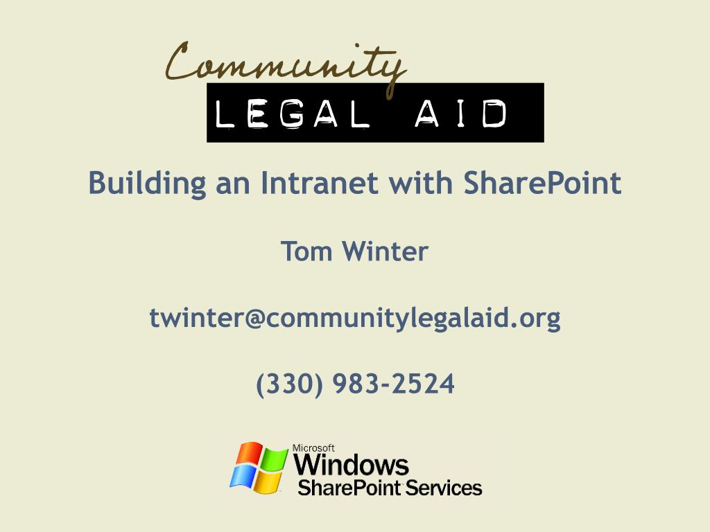 Building an Intranet with SharePoint