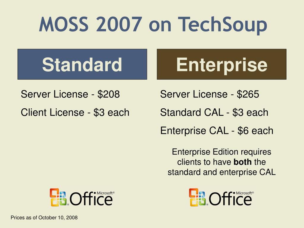 MOSS 2007 on