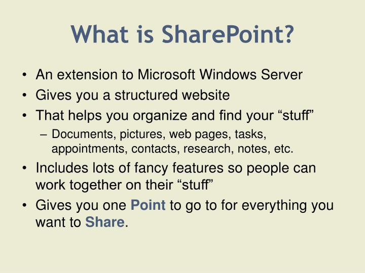 What is sharepoint3