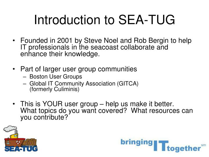 Introduction to sea tug