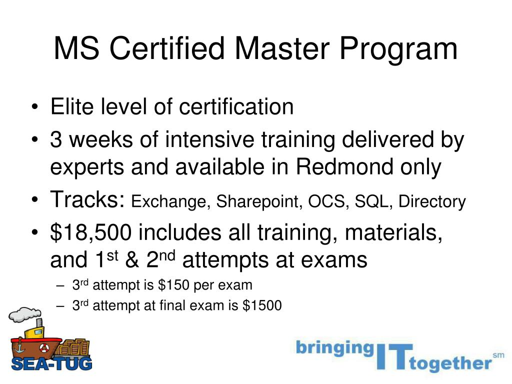 MS Certified Master Program