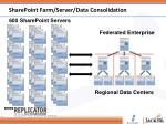 sharepoint farm server data consolidation