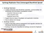 syntergy replicator fixes unmanaged sharepoint sprawl