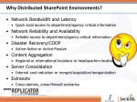 why distributed sharepoint environments