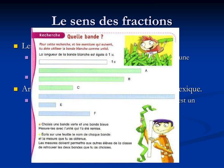 Le sens des fractions