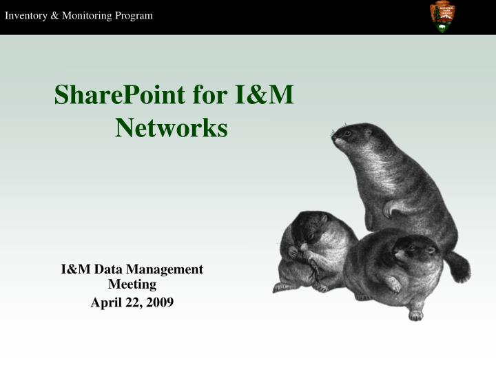 sharepoint for i m networks n.