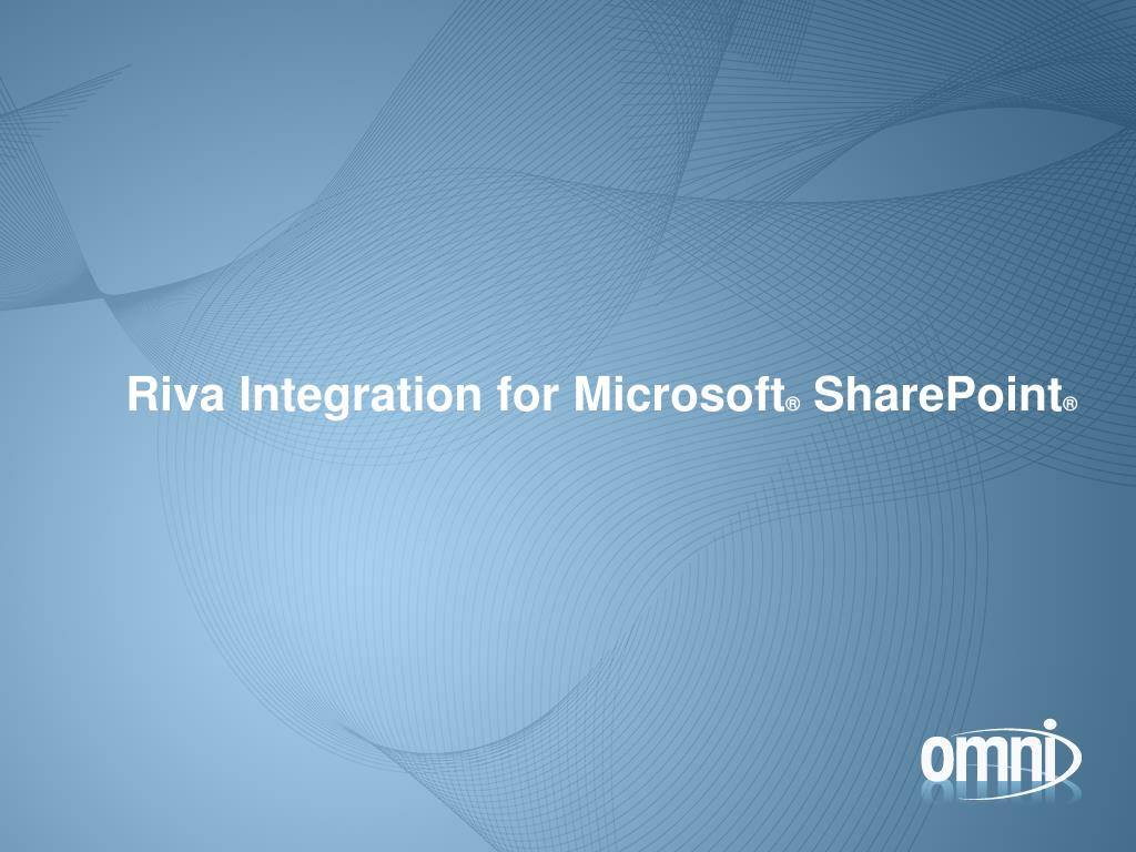 Riva Integration for Microsoft